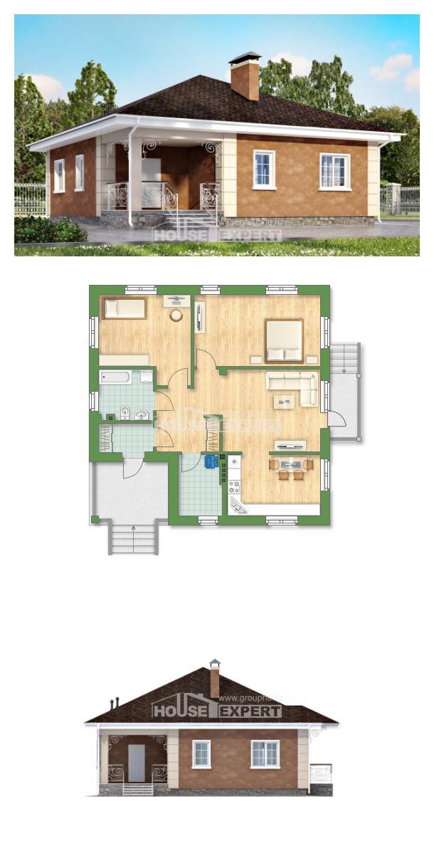 Проект дома 100-001-Л   House Expert