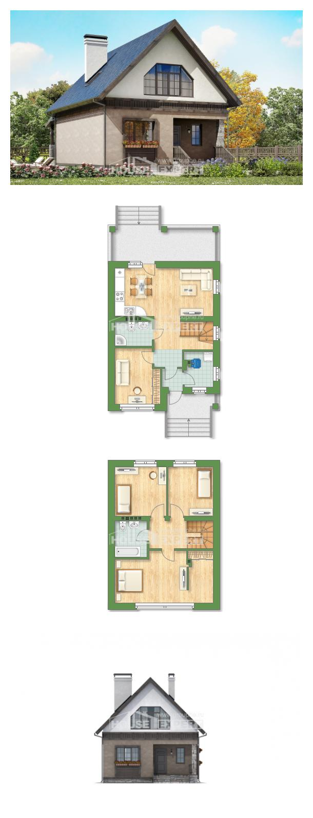 Проект дома 130-003-П   House Expert