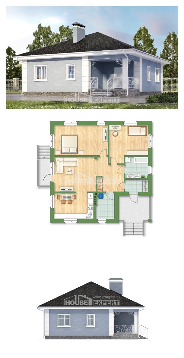 Проект дома 100-001-П   House Expert