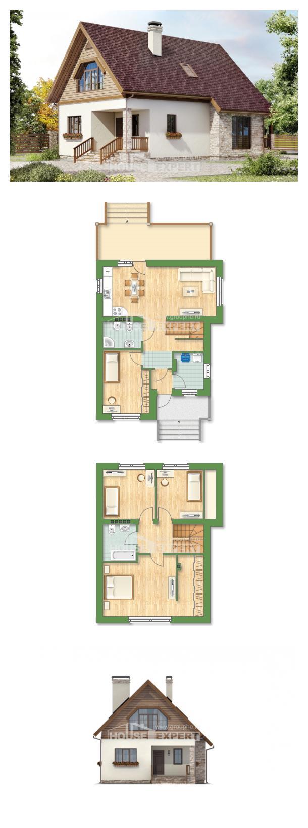 Проект дома 140-001-П   House Expert